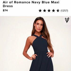 Lulus Air Of Romance Navy Blue